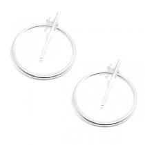 Aros de Plata 925 círculo 25mm