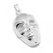 PACK de 5 Dijes mascara de acero blanco