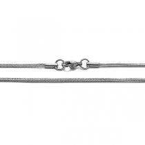 Cadena espiga cuadrada 1.5mm 45cm de acero quirúrgico