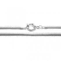PACK x10 Cadena cola de ratón aplanada 4mm 40cm con cierre marinero de acero blanco