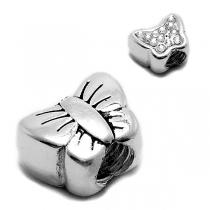Dije mariposa reversible para pulsera pandora de acero blanco