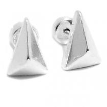 Aros tipo abridor triangulo con relieve de acero blanco
