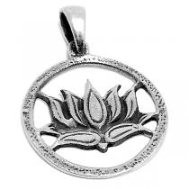 Dije de Plata 925 flor de loto calada