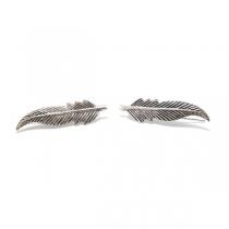aros trepadores hojas de plata 925