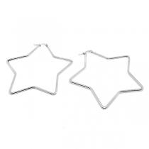 Aros argolla estrella 58mm de acero blanco