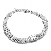PACK x10 Pulsera panther 5mm 20cm de acero blanco