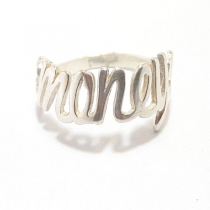 "ANILLO ""MONEY"" DE PLATA 925"