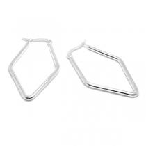 Aros argolla pentagonal 40mm de acero blanco