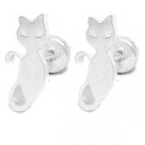 Aros tipo abridor gato de acero blanco