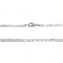 PACK x10 Cadena maim 45cm de acero blanco