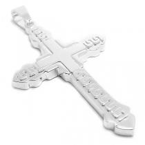 Dije cruz tramada de acero blanco