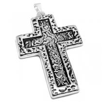 Dije cruz tramada inflada de acero blanco
