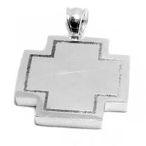 Dije cruz del equilibrio de acero blanco -OFERTA-