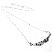 Cadena de Plata 925 veneciana 45cm con dije alas