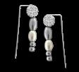 Aros trepadores bola de fuego, perla y bolitas degrade de acero quirúrgico -OFERTA-