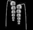 Aros trepadores bolitas degrade de acero quirúrgico