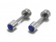 Aros tipo abridor con cubic azul  de acero quirúrgico -OFERTA-