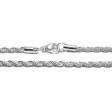 Cadena turbillón 3mm 60cm de acero blanco