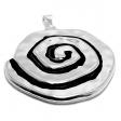 Maxi-dije espiral moana de acero blanco