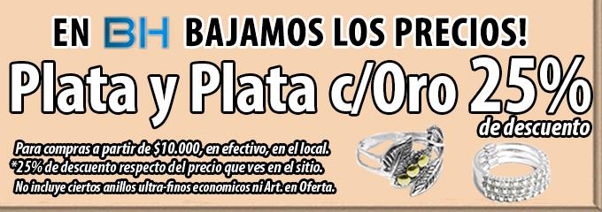 PLATA Y PL c/ORO 25%