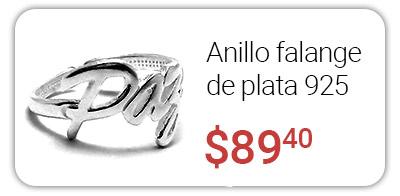 anillo falange plata 925